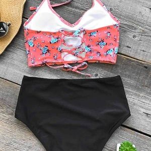 Cupshe Swim - Halter top & high waisted bottoms swimsuit